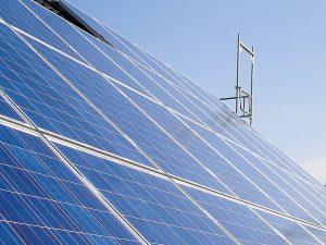Photovoltaik-Anlage (Nahaufnahme)
