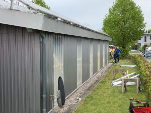 Wandfläche für Photovoltaik-Anlage